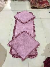 Bộ 3 tấm Thảm Lót Ghế Sofa, Đệm Lót Salon Gỗ m ghế nhung in hoa văn ngăn ghế bị trầy xước, ngồi êm ái