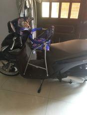Ghế đi xe máy xếp gọn dành cho xe Click, Vision, Vario, Luvias, Janus
