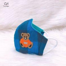 khẩu trang vải cho bé 2 đến 4 tuổi Duy Ngọc [giao màu ngẫu nhiên] [5427]