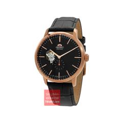 Đồng hồ nam Automatic đường kính mặt 40mm Orient RA-AR0103B10B – Bảo hành 12 tháng lên cót tay trữ cót 40 tiếng dây da chống nước 100m vàng hồng rose gold