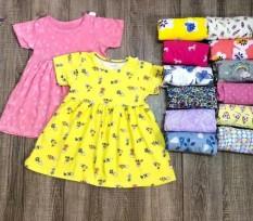 Váy đầm cộc tay mùa hè cho bé gái | 7-17kg 1-5 tuổi | Vải cotton xuất dư mềm mịn đẹp | hoạ tiết xinh yêu
