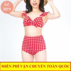Áo Tắm, Bộ đồ tắm, Bikini đi biển, đồ bơi, bikini 2 mảnh kẻ caro hàng Việt Nam cao cấp
