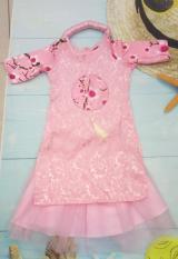 Áo dài cách tân cho bé 10-25kg – Combo áo dài, chân váy, mấn