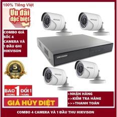 Bảo hành 5 năm,đổi mới trong vòng 3 tháng,Tùy chọn bộ camera DS-2CE16C0T-IRP hikvison đầu thu DS-7104HGHI-F1,giá sốc