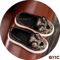 Giày Lười Vải Đính Kim Tuyến Cho Bé Gái G11