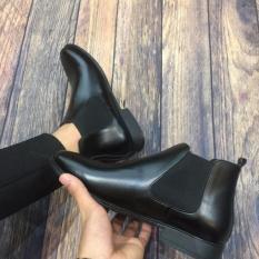 Giày Nam Chelsea Boot cao cổ kiểu trơn da đen