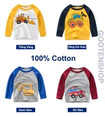 [CHÍNH HÃNG 27KIDS] Áo thun bé trai dài tay hãng 27KIDS in hình dễ thương cho bé chất cotton AD3