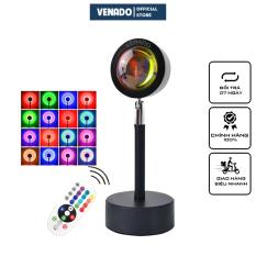Đèn chiếu cầu vồng sống ảo tik tok 16 màu có điều khiển từ xa và loại 4 màu cực hot 2021 Venado