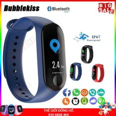 [Chuẩn Nhập] Vòng đeo tay thông minh Smart Band M3 Đo Nhịp Tim kết nối Bluetooth.Đồng hồ Thông Minh Chống Nước Vòng Tay Đồng Hồ Dây Đeo Tay Tập Thể Thao, Vòng Theo Dõi Sức khỏe, Vòng Theo dõi vận động