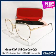 Mắt kính giả cận cao cấp dành cho nữ VNGC001 – Gọng kính chắc chắn, thích hợp để thay tròng cận- Bảo hành 12 tháng 1 đổi 1