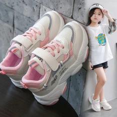 Giày Bé Gái Phiên Bản Hàn Quốc 2020 Thu Đông Thời Trang Mới Giày Thể Thao Cũ Giày Lưới Trẻ Em Màu Đỏ