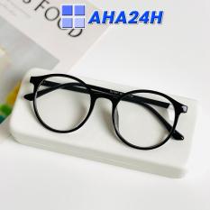 Kính Thời Trang AH143 – Mắt kính nam nữ giả cận Ngố Tata Tròn Thời Trang Xin Xắn