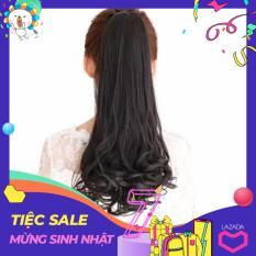 [ Đen Tự Nhiên 48 cm ]Tóc Cột , tóc Giả Cao Cấp Màu [2#]