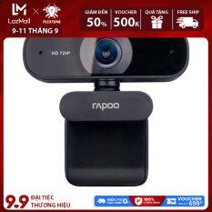 [Voucher tích lũy] Webcam máy tính Rapoo C200 độ phân giải HD 720p 30FPS, xoay 360 độ linh hoạt tích hợp micro giảm tiếng ồn giúp âm thanh trở nên rõ ràng, tương thích với nhiều hệ điều hành, bảo hành chính hãng 2 năm.