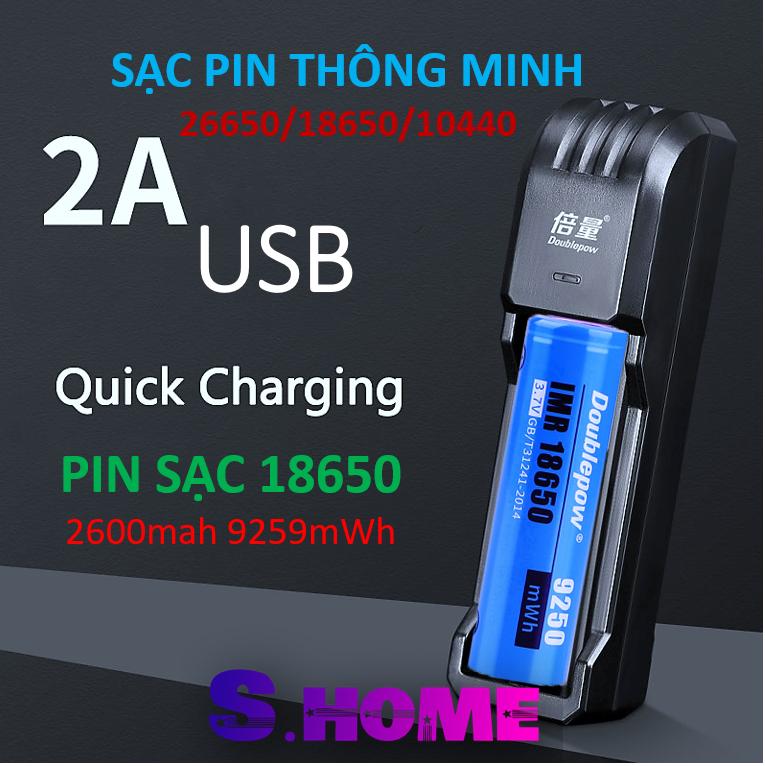Sạc Pin 18650 26650 16340 14500 3.7V Cho Pin Sạc – Bộ Sạc Pin Đa Năng 3.7V DP-UK03 cho pin xe điện, máy khoan, nguồn dự phòng, thiế bị y tế, quạt cầm tay, loa Bluetooth