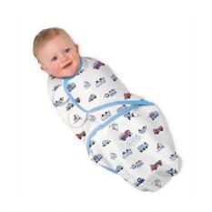 Chăn quấn ủ kén cho bé sơ sinh họa tiết ngẫu nhiên ( Tặng 01 ống bón sữa 3ml )