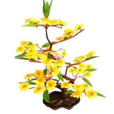 cây hoa mai giả nhỏ có cặp chim