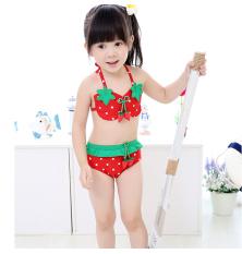 Đồ bơi Bikini trái dâu cho bé gái size từ 9kg đến 32kg