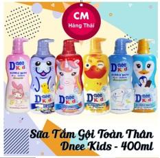 Sữa Tắm Gội Toàn Thân Dnee Kid Hình Thú Thailand 400ML