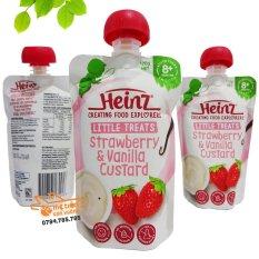 Váng sữa Heinz 120gr Nội Địa Úc – CHO BÉ TỪ 6 THÁNG TUỔI vị dâu
