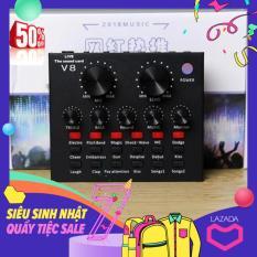Sound card thu âm V8 có AutoTone Chất Lượng Cao, Mic thu âm, thiết bị âm thanh, mic hát karaoke