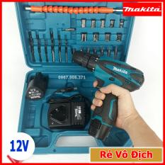 Máy khoan pin Makita 12V, Khoan cầm tay bắt vít 24 chi tiết