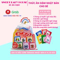 Combo 6 gói lẻ – Gia vị rắc cơm cho bé 6 vị 30 gói Tanaka Nhật Bản. Date 7/2021 – Sweet Baby House