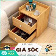 Tủ đầu giường – Tủ gỗ để đồ – Tủ gỗ đầu giường 2 ngăn kéo – Kệ đầu giường – kệ gỗ 2 ngăn cao cấp