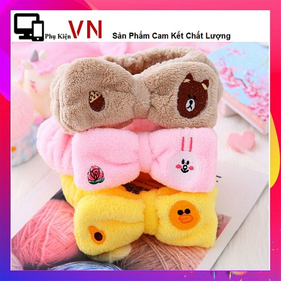 ⚡ Phukienvinhnguyen -Băng đô hoạt hình kakao talk line friends gấu thỏ siêu cute dễ thương⚡