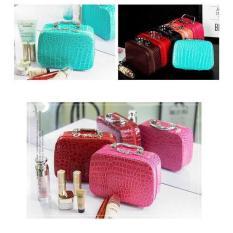 Vali – Cốp – Hộp đựng mỹ phẩm vân cá sấu 3 màu lựa chọn đen, đỏ, hồng