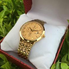 đồng hồ đôi nam nữ baishuns,dây vàng mặt vàng cao cấp