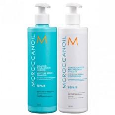 Dầu gội xả phục hồi tóc hư tổn Moroccanoil Moisture RepairDầu gội và xả phục hồi độ ẩm dành cho tóc yếu hoặc hư tổn do nhuộm, uốn, duỗi, qui trình hóa chất hay tạo kiểu bằng nhiệt.