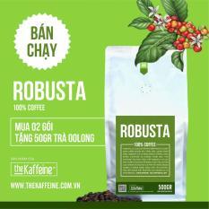 Cà phê Robusta rang xay nguyên chất 500g – The Kaffeine Coffee – Theo dõi shop nhận ngay 10% không điều kiện – rang light (coffee)