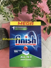 Viên rửa chén bát Finish ALL IN 1 MEGA 100 viên – Finish Powerball All In One Mega Dishwasher Tablets 100 pack SX 05.2020