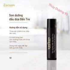 Son dưỡng môi dầu dừa bến tre Cocoon 5g giúp đôi môi mềm mượt, căng mọng, chống khô môi,nứt nẻ, loại bỏ da chết giúp môi hồng hào