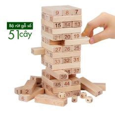 Đồ chơi rút gỗ bằng số 51 cây -E16DC63