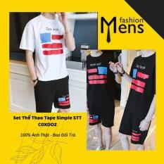Bộ thể thao nam ️̼ quần áo thể thao nam tape simple stt-mực in bền-c0xdoz, cam kết sản phẩm đúng mô tả, chất lượng đảm bảo an toàn đến sức khỏe người sử dụng