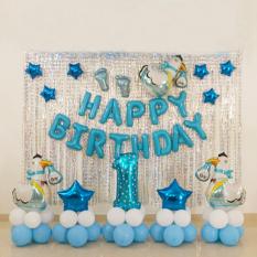 set bóng trang trí sinh nhật cho Bé tuổi Heo/Cún/Gà 1 Tuổi/ 2 Tuổi/3 Tuổi (Kèm bơm+băng keo dính bóng)