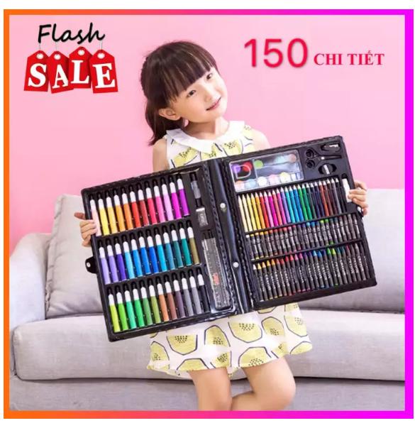 Bộ hộp màu 150 chi tiết- Bộ tô màu- Quà tặng cho bé Tmark