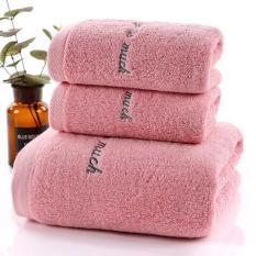 Set 2 Khăn tắm dày 34×75+70×140,siêu thấm chất liệu 100 cotton 120g+450g 130