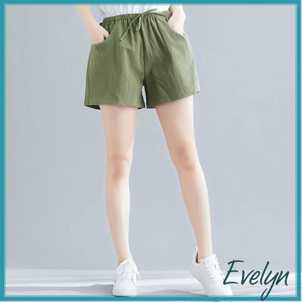 Quần short nữ chất đũi Evelyn dáng váy chất đẹp siêu mát