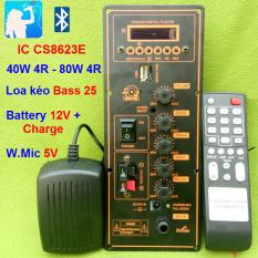 Mạch loa kéo công suất 40W-80W HA8622 Loa kéo 2.5 tấc Bluetooth Karaoke