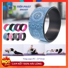 Vòng tập yoga 33cm bọc cao su Pu Họa Tiết Mandala chống trơn trượt 100% khung nhựa siêu cứng( Bảo Hành 12 Tháng)Tienphatsmart