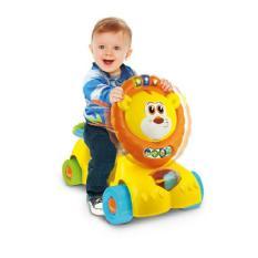 Xe tập đi kế hợp xe chòi chân kiêm xe scooter 3 trong 1 hình sư tử có nhạc cho bé Winfun 0855