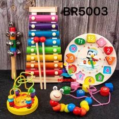 Đồ Chơi Giáo Cụ Montessori Cho Bé Từ 0 Đến 5 tuổi Phát Triển Trí Não, Đồ Chơi Âm Nhạc Cho Bé Cảm Thụ Âm Nhạc, Đồ Chơi Gỗ Cho Bé