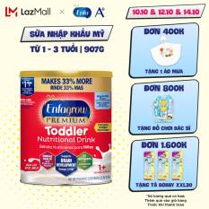 [ FREESHIP TOÀN QUỐC TỪ 1 LON ] [Nhập khẩu Mỹ] Sữa bột Enfagrow Premium Toddler Hương sữa tự nhiên cho trẻ từ 1-3 tuổi- 907g
