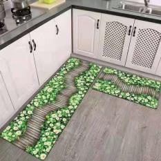 BỘ 2 THẢM BẾP 3D CHỐNG TRƠN TRƯỢT NHƯ HÌNH Kovico mẫu 2020 Thảm nhà bếp, thảm bếp, thảm bếp dài, thảm bếp đẹp