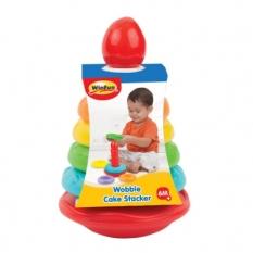 Cột bánh tháp xếp chồng vòng màu sắc Winfun 0774 – cho bé 6-24 tháng phát triển tư duy