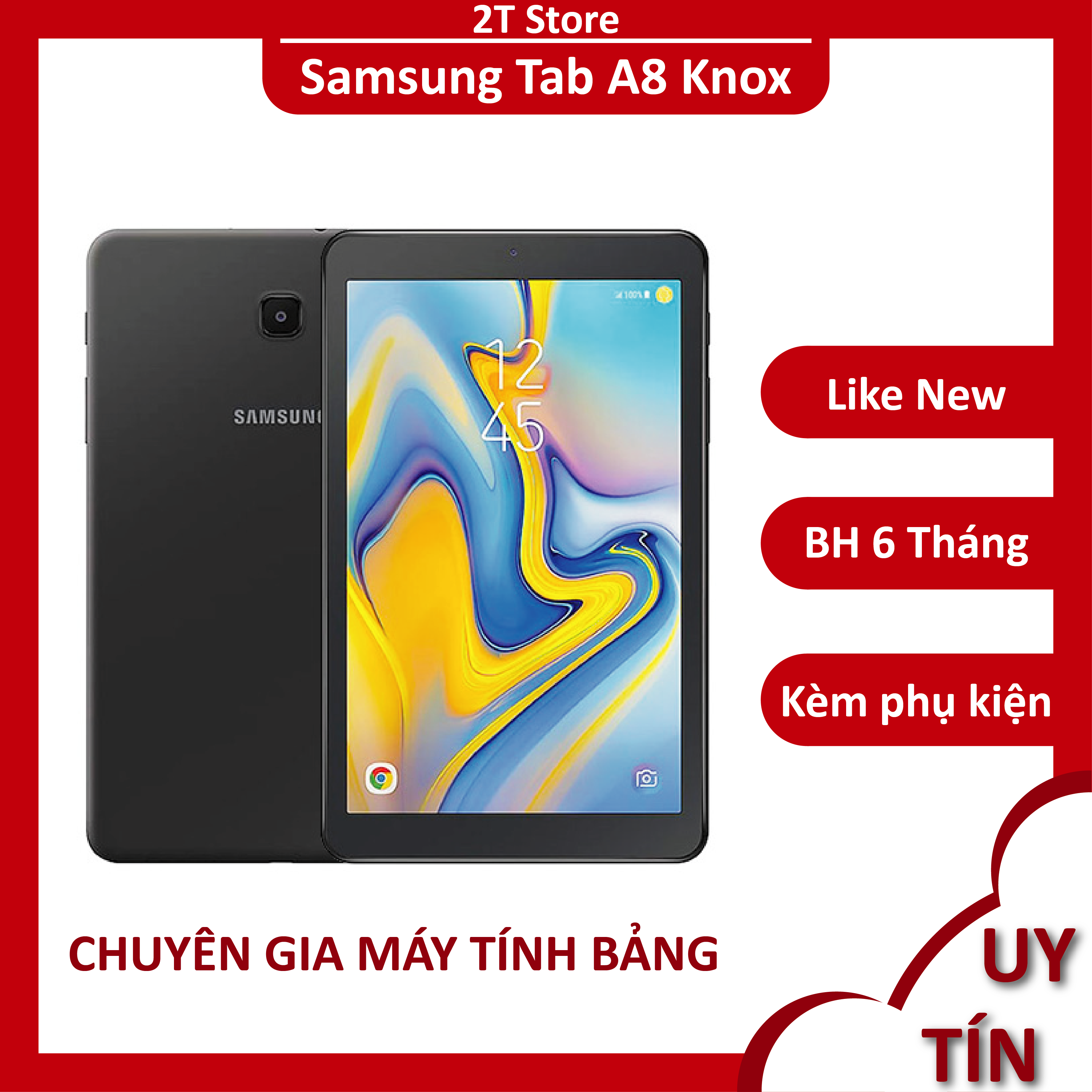 [Nhập ELJAN12 giảm 10%, tối đa 200k, đơn từ 99k]Máy tính bảng Samsung Tab A8 Knox siêu bền pin trâu