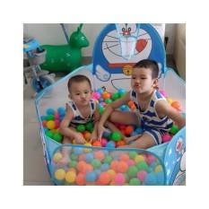 Lều bóng rổ kèm 100 bóng nhựa cho bé